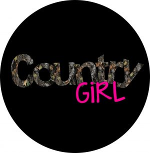 Country Girl Camouflage Tire Cover