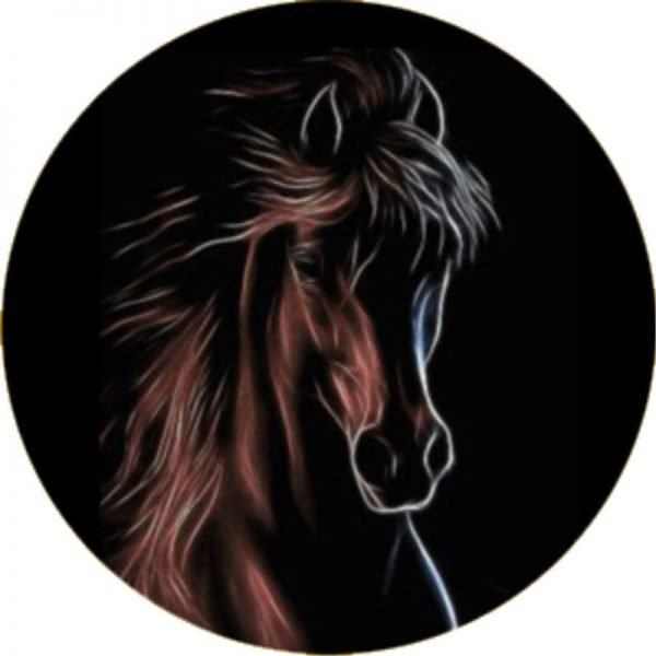 Electric Horse Tire Cover