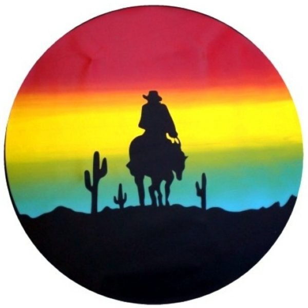 sunset cowboy tire cover