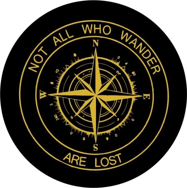 Gold Compass Tire Cover Gold