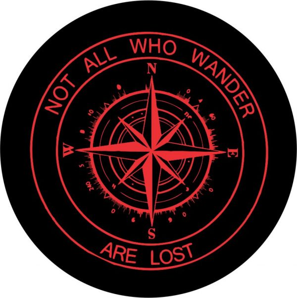 Red Compass Tire Cover Red