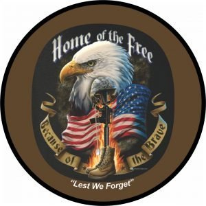 Home of the Free Tire Cover