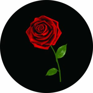 Red Rose Tire Cover