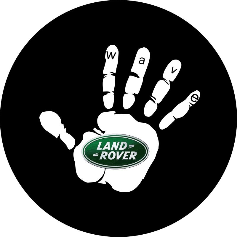 Land Rover Custom Wave Tire Cover Image