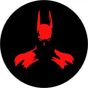 Bat Man Red Tire Cover Image