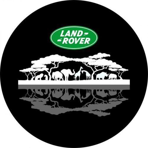 Africa image on lake tire cover