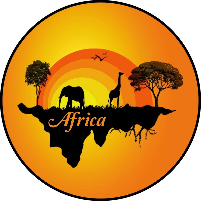 African Sunrise Tire Cover