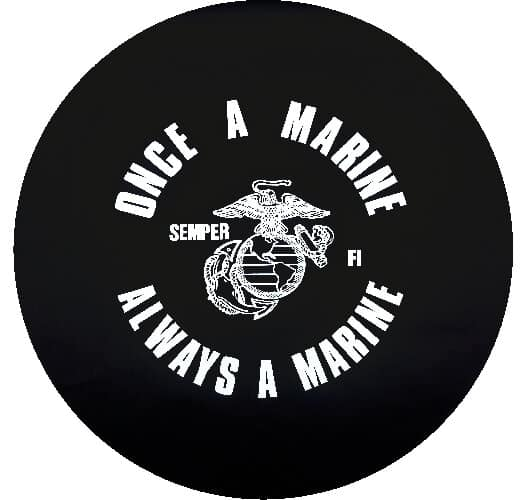 Image of a Once a Marine Tire Cover