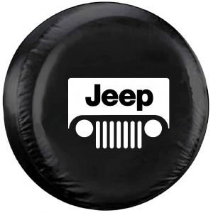 Image of a Jeep logo tire cover