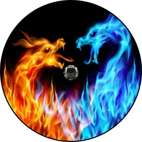 Image of a Fire and Ice Dragons Back Up Camera Tire Cover