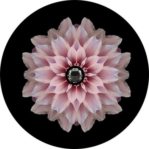 image of a Pink Flower Back Up Camera Tire Cover