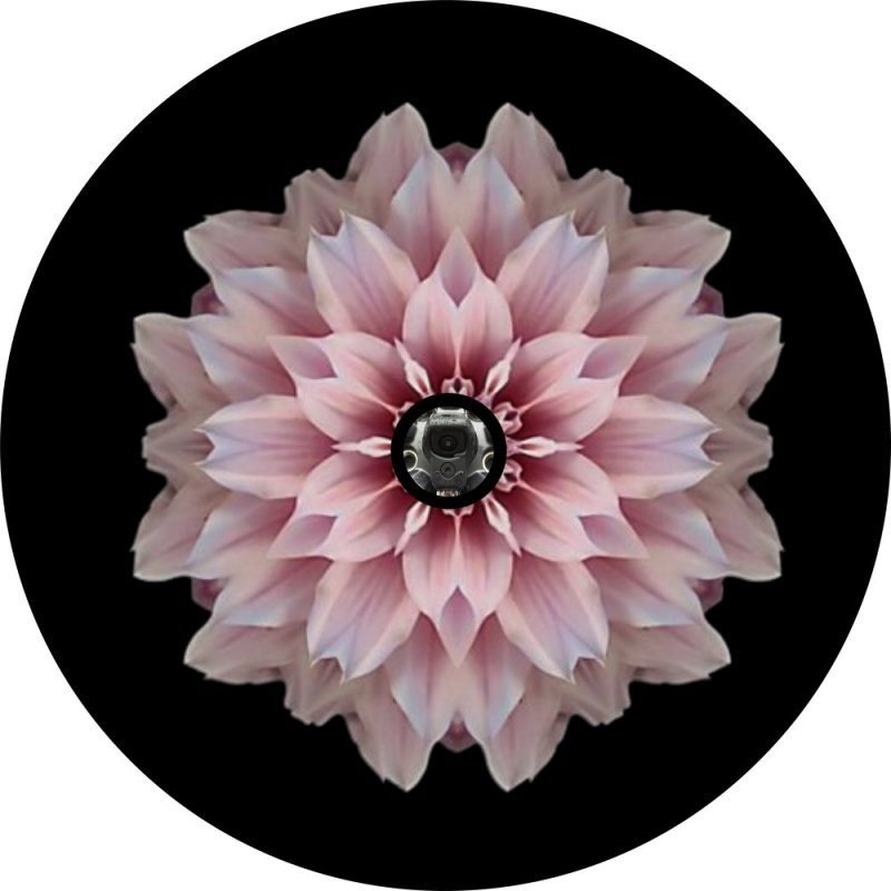 Pink Flower Back Up Camera Tire Cover