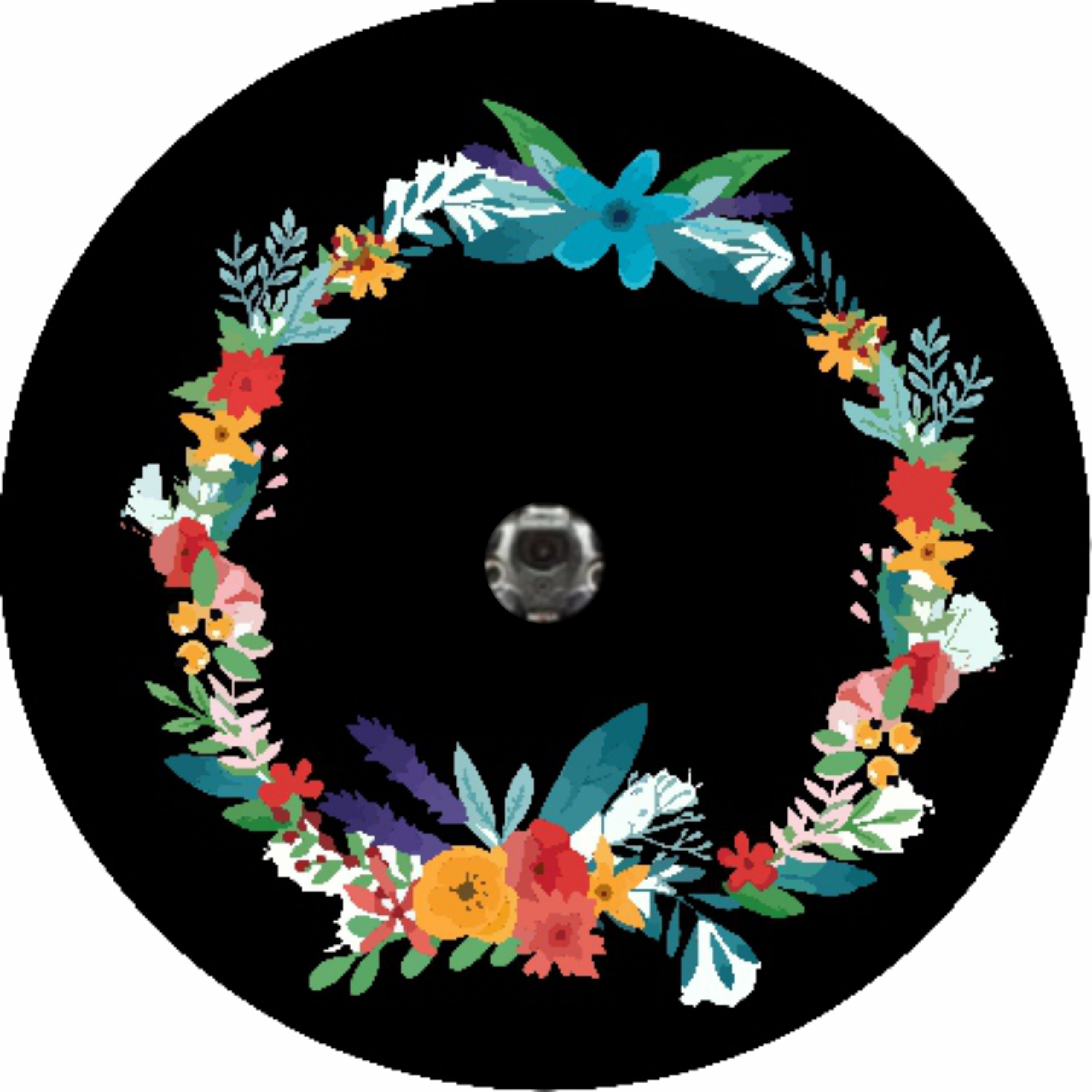 Flowered Reef Camera Tire Cover