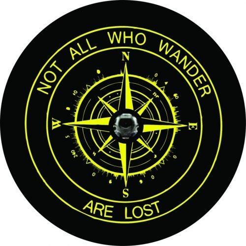 Image of a Yellow Compass Camera Tire Cover