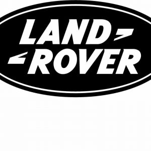 Image of a Land Rover Black Decal