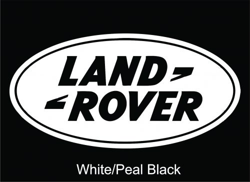 Image of a Land Rover White Decal