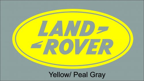 Image of a Land Rover Yellow Decal