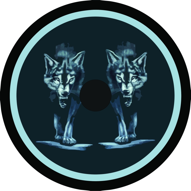 wolf pack Back Up Camera Tire Cover