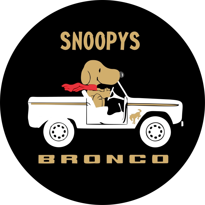 Snoopy's Bronco Tire Cover